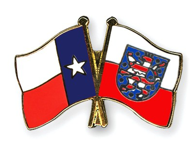 Crossed Flag Pins Texas-Thuringia