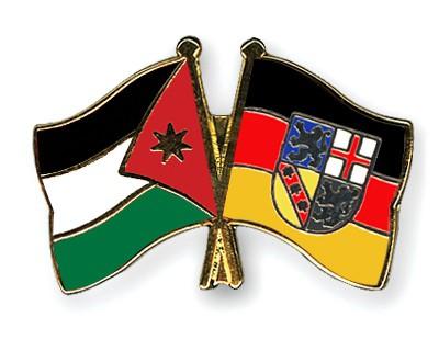 Crossed Flag Pins Jordan-Saarland