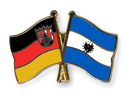 Crossed Flag Pins Rhineland-Palatinate-El-Salvador
