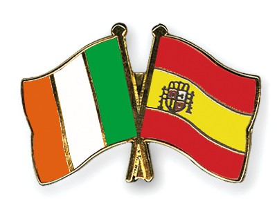 Special Offer Crossed Flag Pins Ireland-Spain