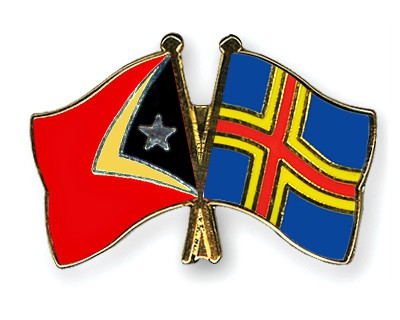Crossed Flag Pins Timor-Leste-Aland