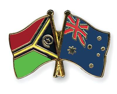 Crossed Flag Pins Vanuatu-Australia
