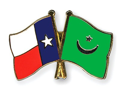 Crossed Flag Pins Texas-Mauritania