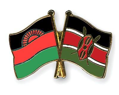 Crossed Flag Pins Malawi-Kenya
