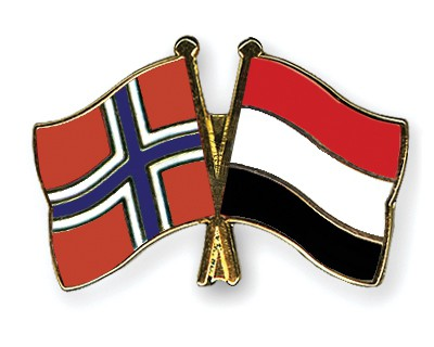 Special Offer Crossed Flag Pins Norway-Yemen