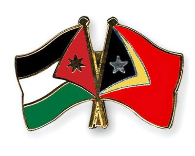 Crossed Flag Pins Jordan-Timor-Leste