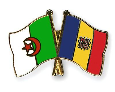 Crossed Flag Pins Algeria-Andorra