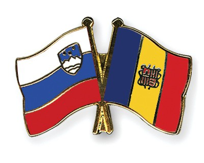 Crossed Flag Pins Slovenia-Andorra