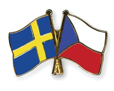Special Offer Crossed Flag Pins Sweden-Czech-Republic