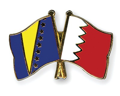 Crossed Flag Pins Bosnia-and-Herzegovina-Bahrain