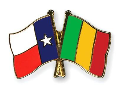 Crossed Flag Pins Texas-Mali