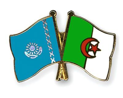 Crossed Flag Pins Kazakhstan-Algeria
