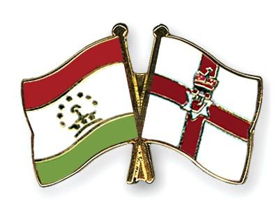 Crossed Flag Pins Tajikistan-Northern-Ireland