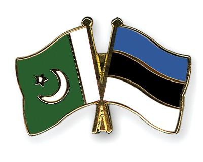 Crossed Flag Pins Pakistan-Estonia