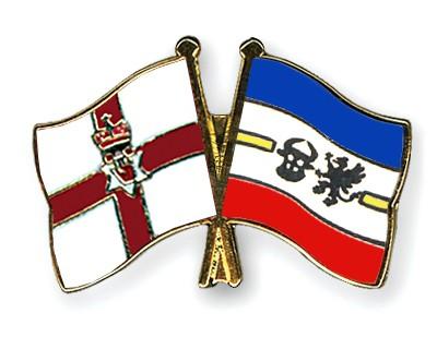 Crossed Flag Pins Northern-Ireland-Mecklenburg-Western-Pomerania