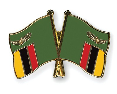 Crossed Flag Pins Zambia-Zambia