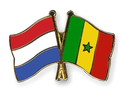 Special Offer Crossed Flag Pins Netherlands-Senegal