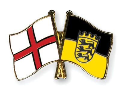 Crossed Flag Pins England-Baden-Wuerttemberg