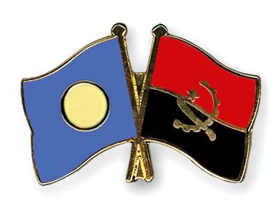 Crossed Flag Pins Palau-Angola