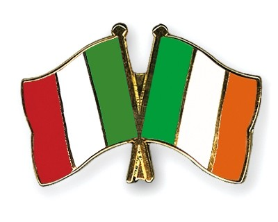 Special Offer Crossed Flag Pins Italy-Ireland