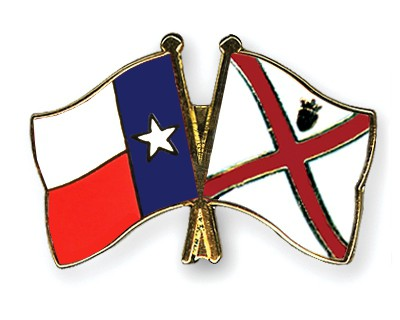 Crossed Flag Pins Texas-Jersey