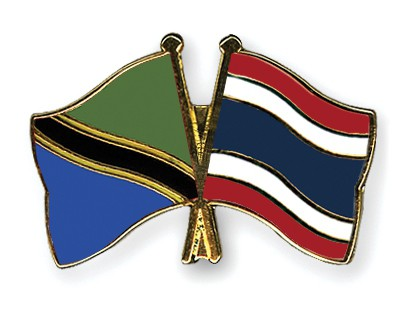 Crossed Flag Pins Tanzania-Thailand