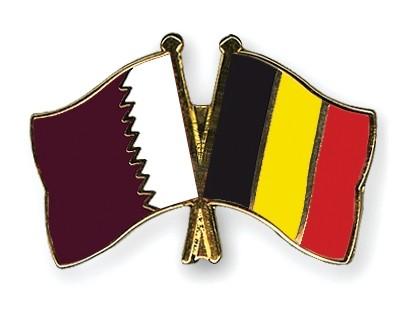 Special Offer Crossed Flag Pins Qatar-Belgium