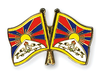 Crossed Flag Pins Tibet-Tibet