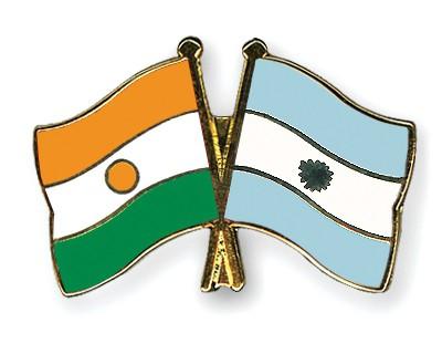 Crossed Flag Pins Niger-Argentina