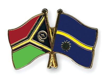 Crossed Flag Pins Vanuatu-Nauru