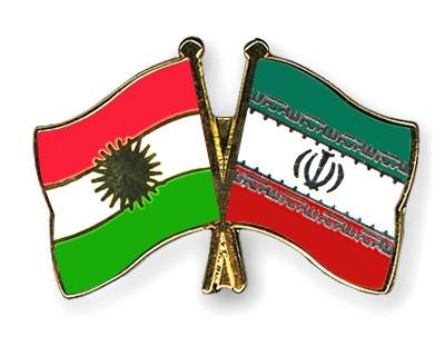 Crossed Flag Pins Kurdistan-Iran