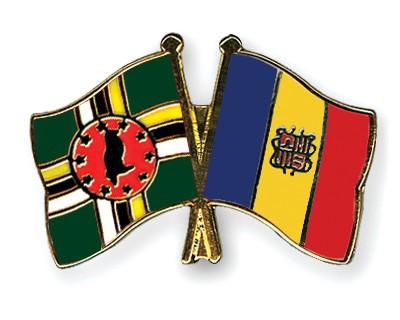 Crossed Flag Pins Dominica-Andorra