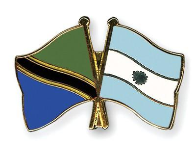Crossed Flag Pins Tanzania-Argentina