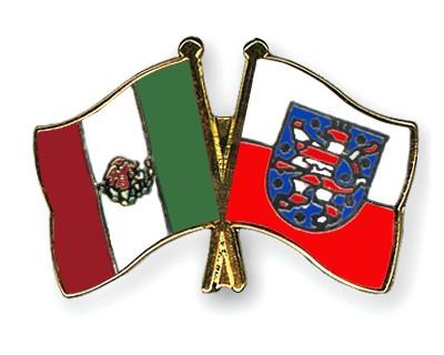 Crossed Flag Pins Mexico-Thuringia