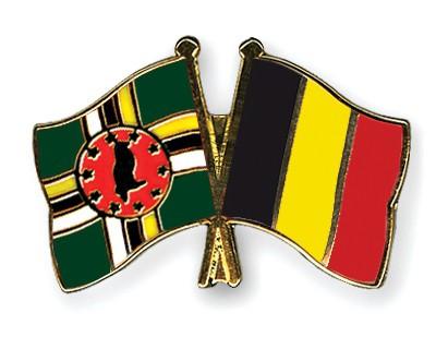 Crossed Flag Pins Dominica-Belgium