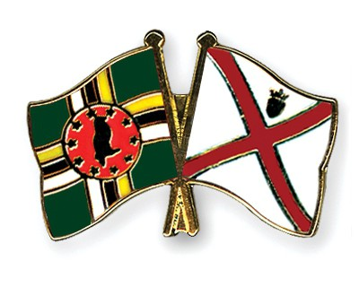 Crossed Flag Pins Dominica-Jersey