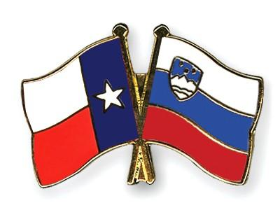 Crossed Flag Pins Texas-Slovenia