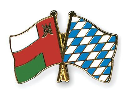 Crossed Flag Pins Oman-Bavaria