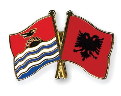 Crossed Flag Pins Kiribati-Albania