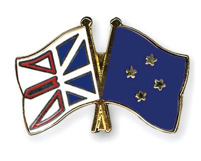 Crossed Flag Pins Newfoundland-and-Labrador-Micronesia