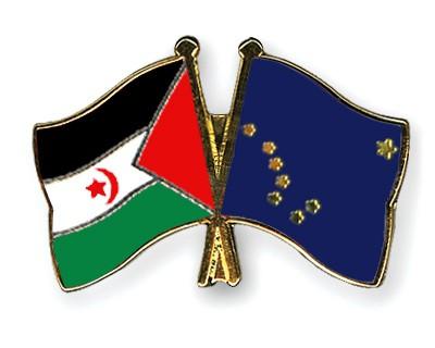 Crossed Flag Pins Western-Sahara-Alaska