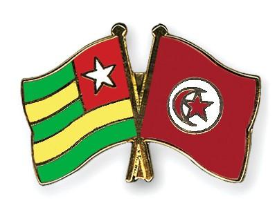 Crossed Flag Pins Togo-Tunisia