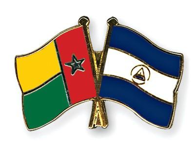 Crossed Flag Pins Guinea-Bissau-Nicaragua