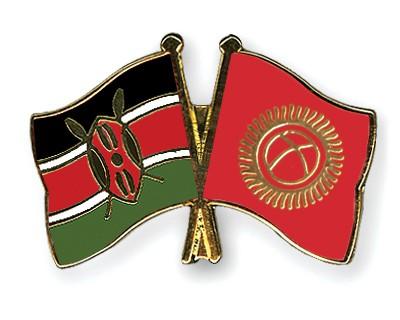 Crossed Flag Pins Kenya-Kyrgyzstan