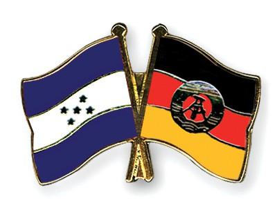 Crossed Flag Pins Honduras-GDR