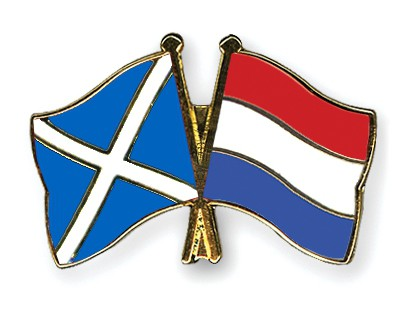 Special Offer Crossed Flag Pins Scotland-Netherlands