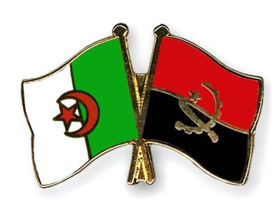 Crossed Flag Pins Algeria-Angola