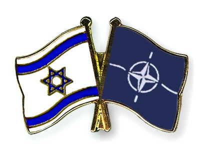 Special Offer Crossed Flag Pins Israel-NATO