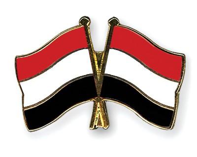 Crossed Flag Pins Yemen-Yemen