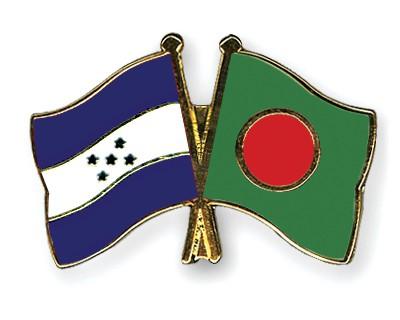 Crossed Flag Pins Honduras-Bangladesh